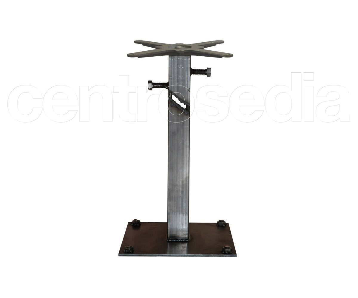 Seattle tavolo metallo base quadrata tavoli alluminio metallo