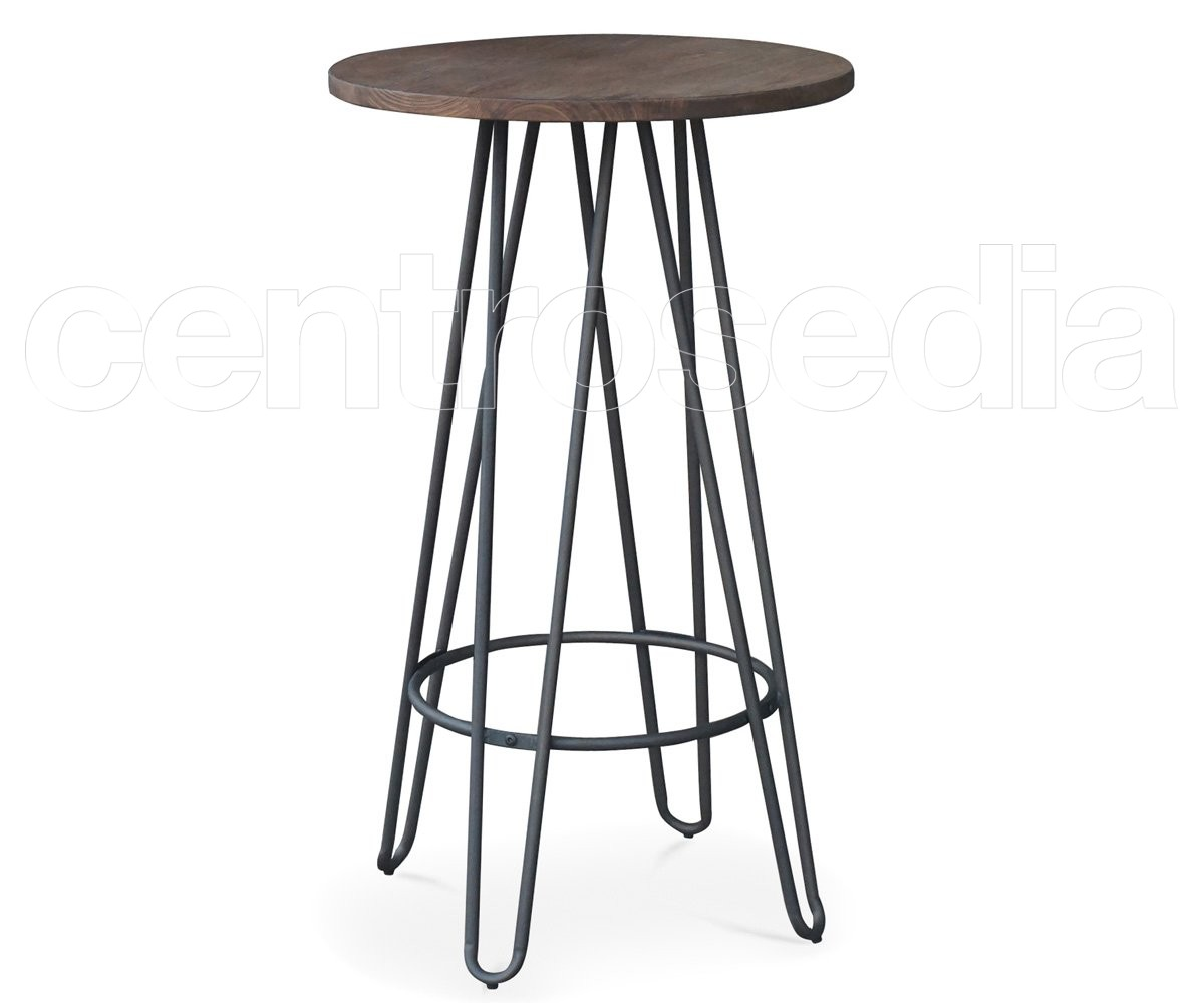 Tavolini Alti Da Bar.Sierra Tavolo Alto Metallo Old Style Tavoli Alti Cocktail