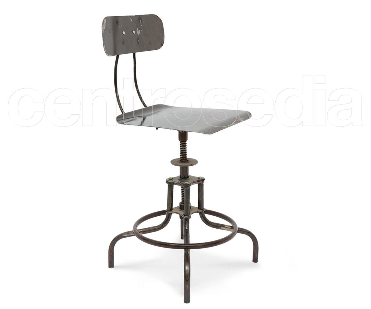 Sgabelli Da Lavoro Regolabili : Galileo sgabello alto vintage metallo sgabelli lavoro aule