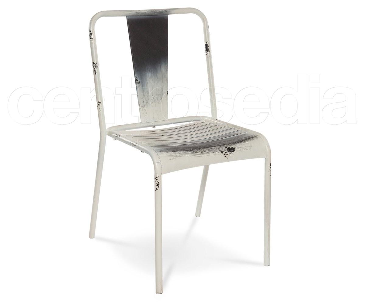Sedie Di Metallo Vintage : Roy sedia metallo antique sedie vintage e industriali