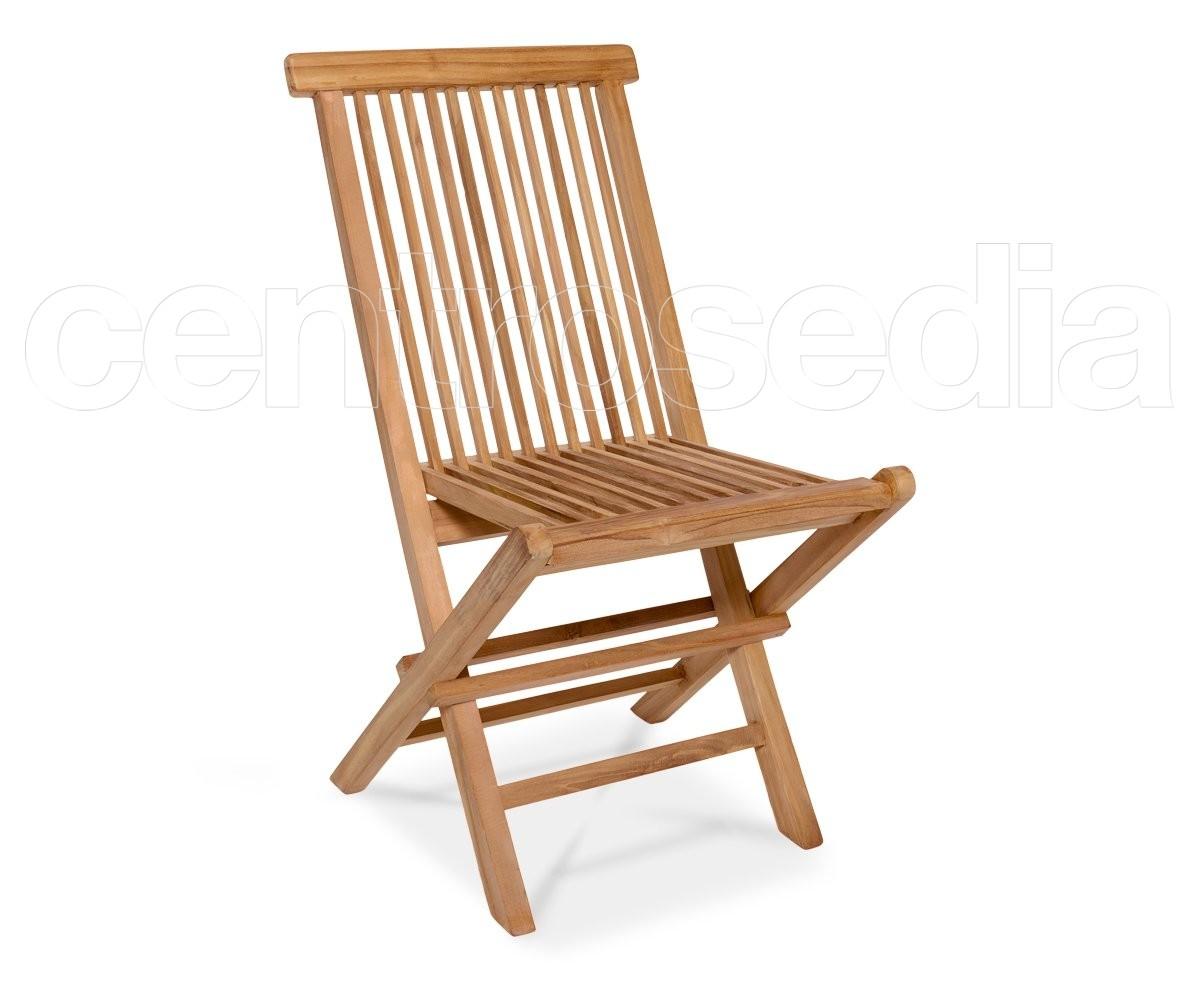 Sedie In Legno Richiudibili.Adi Sedia Pieghevole In Legno Di Teak Sedie E Panche Legno Teak