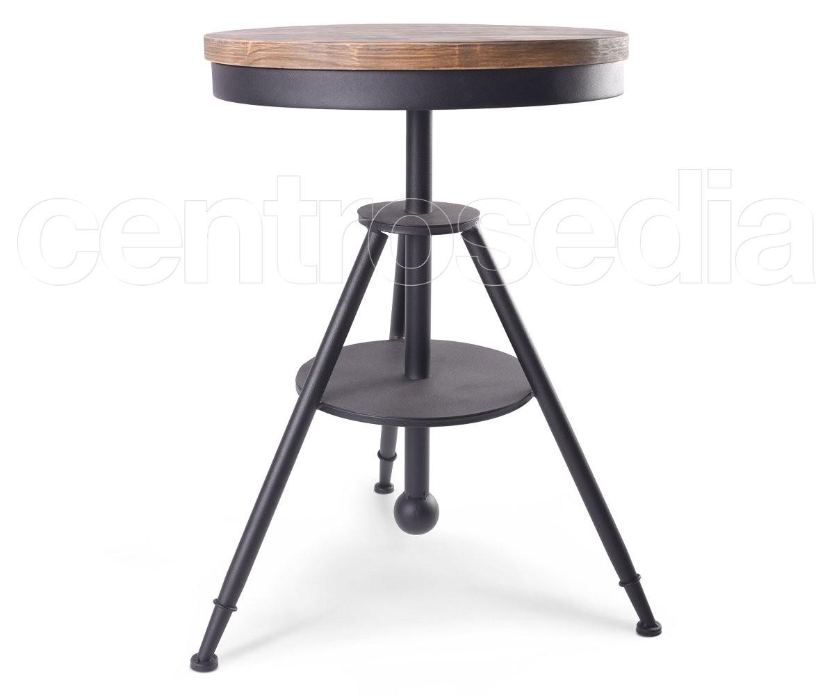 Tavoli Alti Legno : Moca tavolo metallo piano legno tavoli alti vintage e industriali