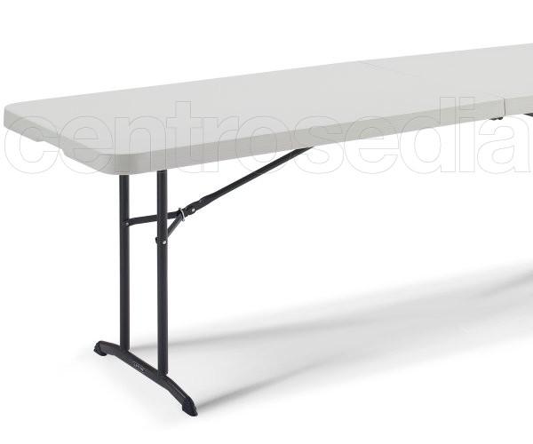 Lifetime 80175 tavolo pieghevole 244x76cm tavoli for Tavolo plastica pieghevole