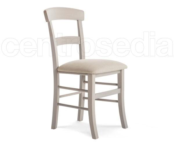 Sedie In Legno Imbottite.Roma Sedia Legno Seduta Imbottita Sedie Legno Classico E Rustico