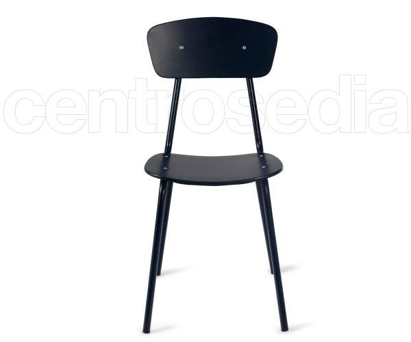 Olivette sedia metallo legno sedie vintage e industriali for Sedie design metallo