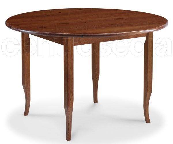Risto tavolo legno rotondo gambe a sciabola tavoli legno for Tavolo legno rotondo