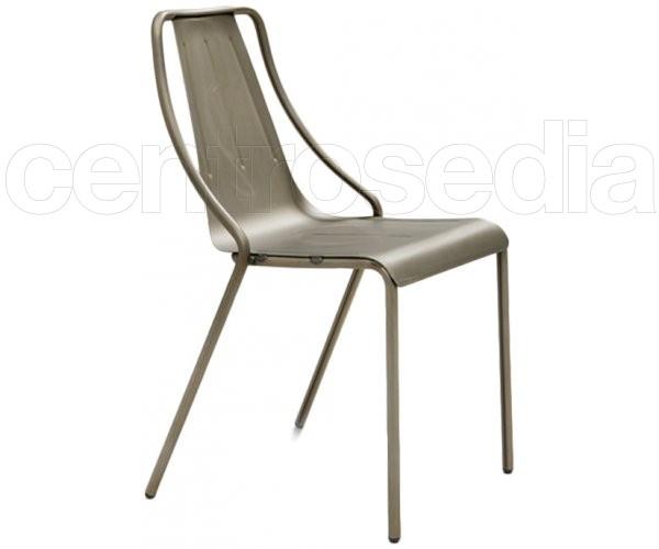 Ola sedia metallo sedie design for Sedie design metallo