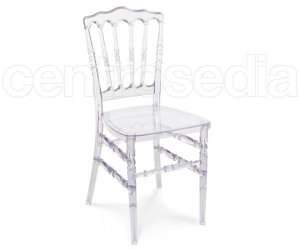 Napoleon sedia policarbonato trasparente sedie for Sedia ufficio trasparente