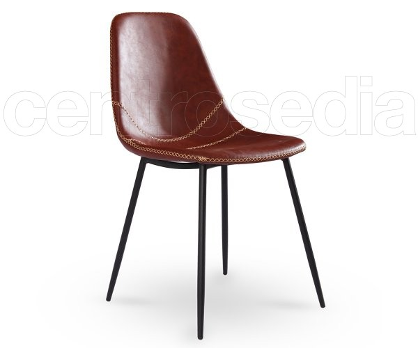 Micky sedia attesa vintage metallo imbottito sedie attesa for Sedia ufficio vintage