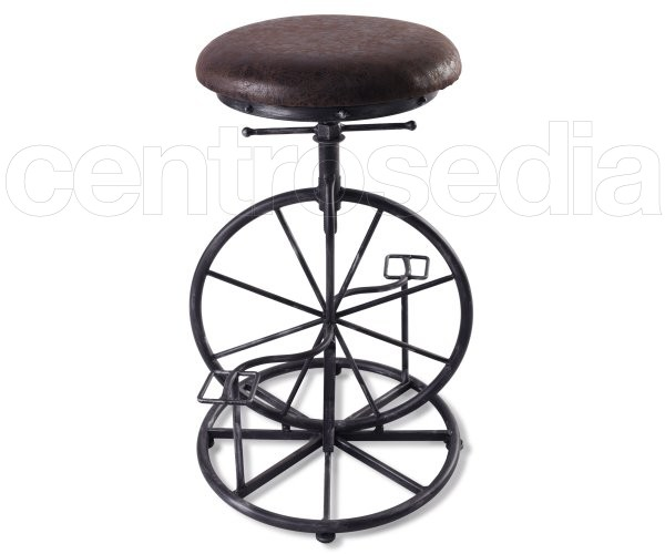 Bike Sgabello Metallo Imbottito