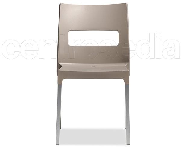 Maxi diva sedia alluminio polipropilene sedie design for Sedie alluminio design