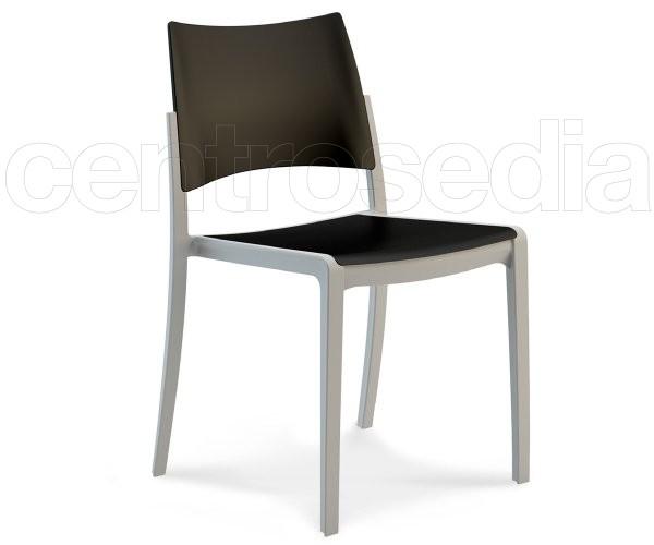 Sedie plastica design meridiana base frassino erica sedia in