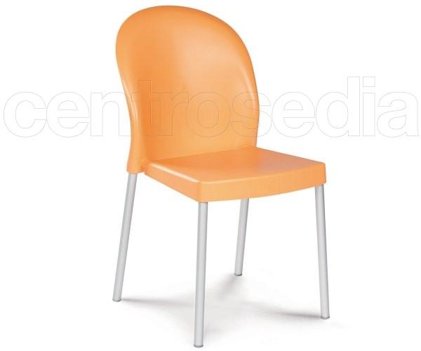 Mil sedia tecnopolimero alluminio gaber sedie design for Sedie alluminio design