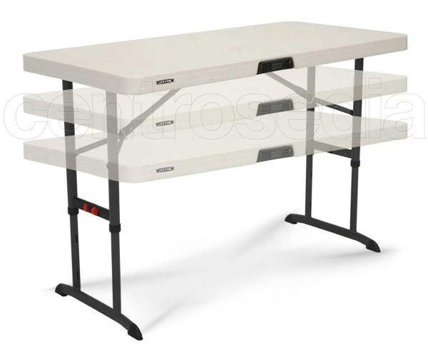 Lifetime 80522 tavolo pieghevole 122x61cm regolabile in - Tavolo regolabile in altezza ...