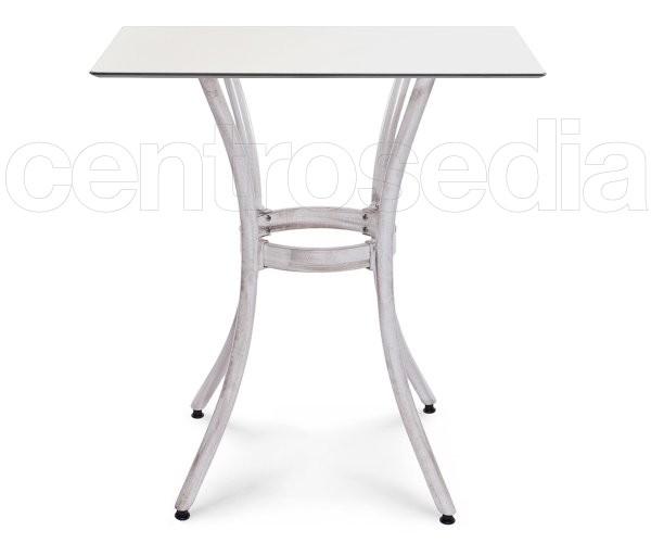 Ischia Tavolo Alluminio Bianco Bamboo