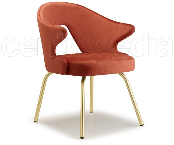 You Poltroncina Metallo Ottone Scab Design