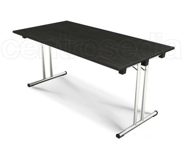 Fold tavolo pieghevole con piano 160x80 cm tavoli for Tavolo consolle 80 cm