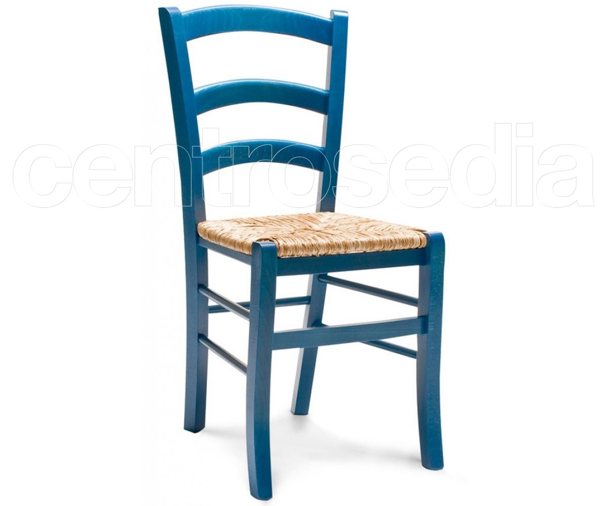 Sedie Di Plastica Colorate.Anita Sedia Legno Rustico Colorata Seduta Paglia Sedie Legno