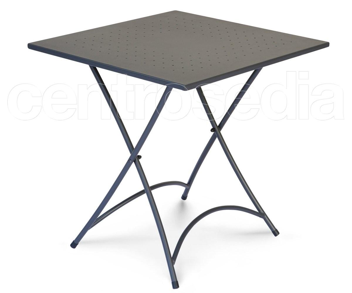 Belindo tavolo pieghevole metallo 70x70 cm tavoli - Tavolo esterno pieghevole ...