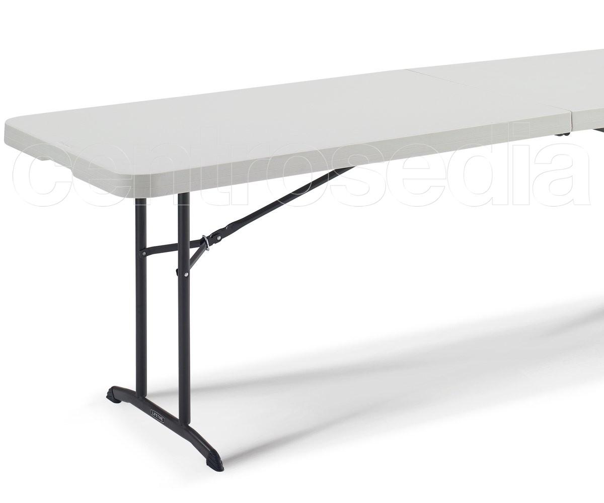 Lifetime 80175 tavolo pieghevole 244x76cm tavoli pieghevoli o richiudibili - Tavoli ikea pieghevoli ...