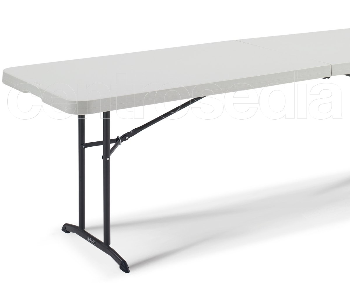 Lifetime 80175 tavolo pieghevole 244x76cm tavoli for Tavoli pieghevoli