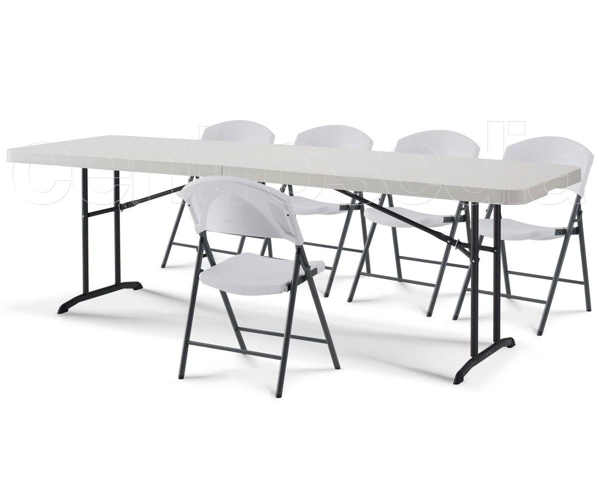 Tavoli Pieghevoli Plastica Per Catering.Lifetime 80175 Tavolo Catering Pieghevole 244x76cm Tavoli Catering