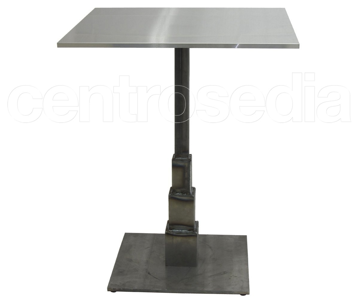 Stone tavolo ghisa base quadrata tavoli vintage e industriali for Tavolo 40x40