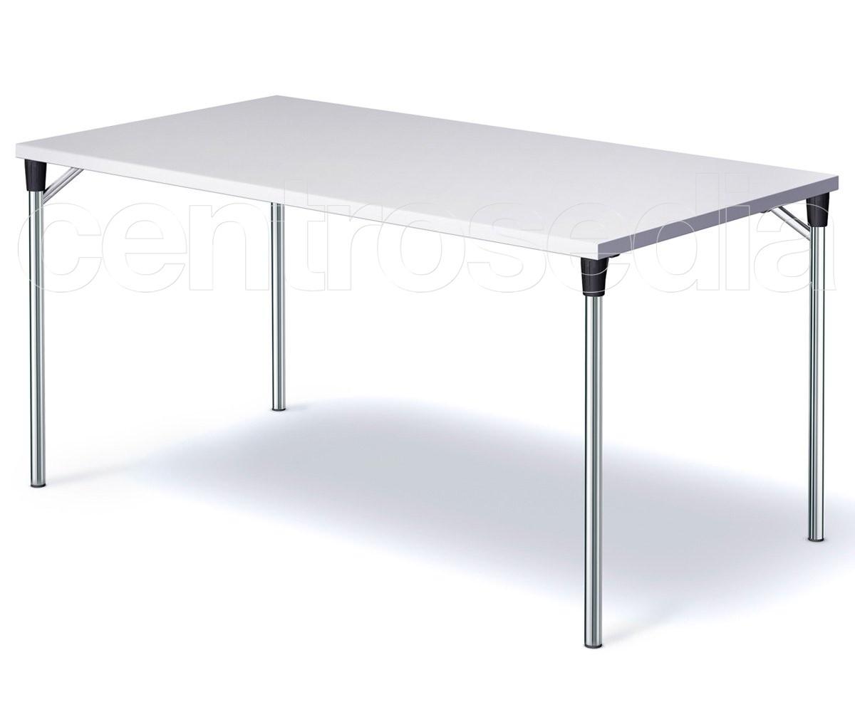Tavoli Pieghevoli In Alluminio.Speedy Tavolo Pieghevole Rettangolare Tavoli Pieghevoli O