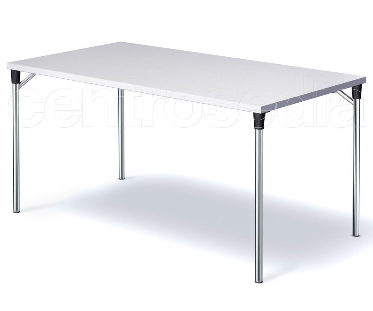 Tavoli In Plastica Pieghevoli.Speedy Tavolo Pieghevole Rettangolare Tavoli Aule Laboratori Mense