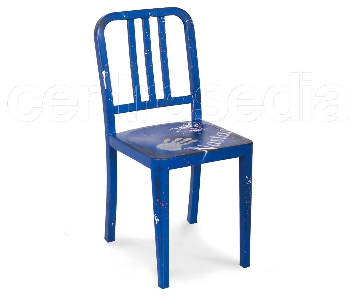 Marine sedia metallo sedie vintage e industriali