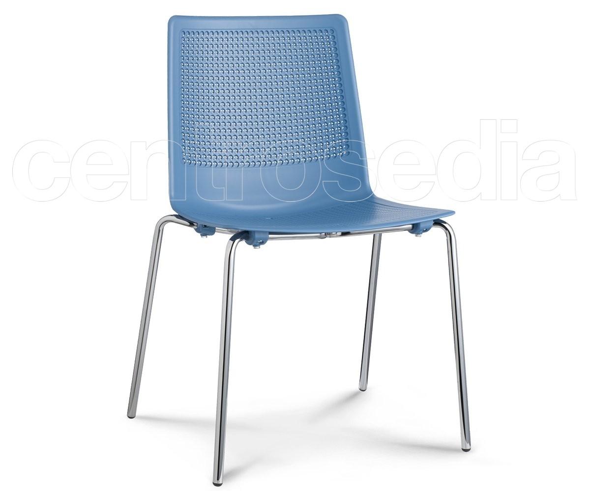 Felix sedia metallo polipropilene sedie metallo plastica