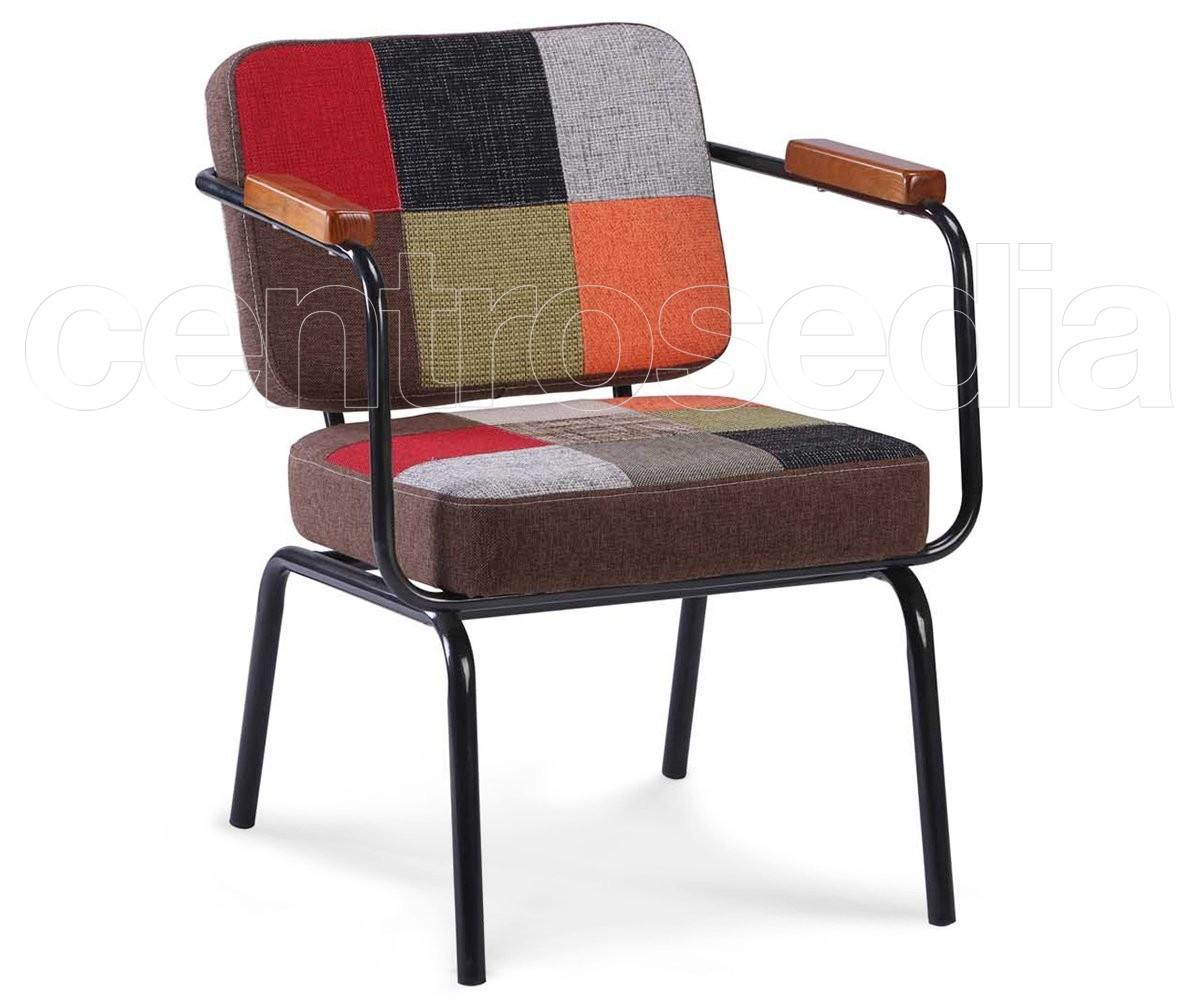 Twist poltrona vintage imbottito tessuto poltrone e divani vintage