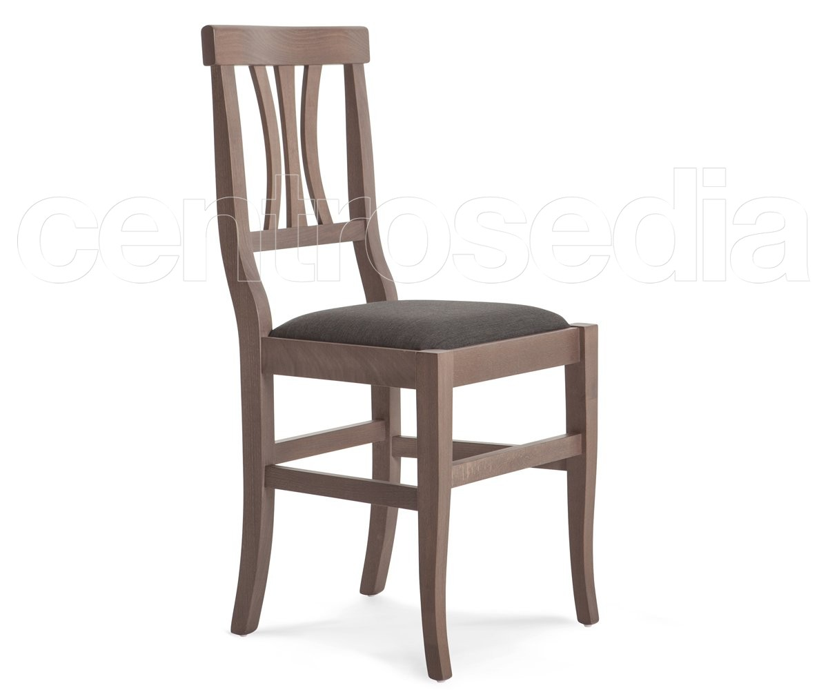 Sedie Di Legno Imbottite.Arte Povera Sedia Legno Seduta Imbottita Sedie Legno