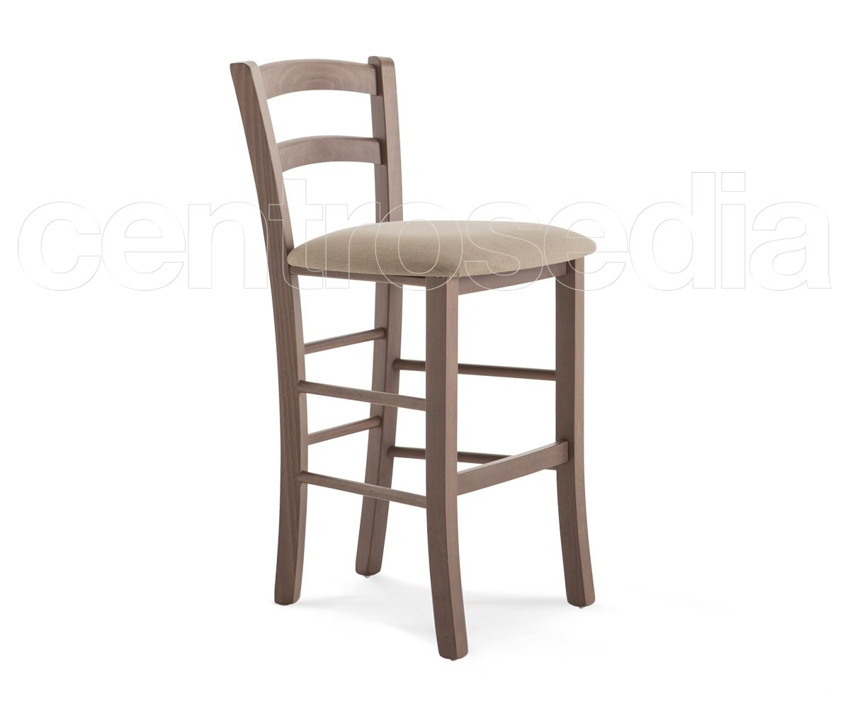 Anita sgabello legno seduta imbottita hs cm sgabelli bar