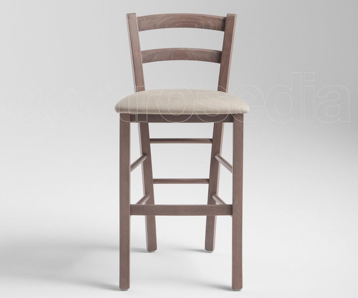 Anita sgabello legno seduta imbottita hs 63 cm sgabelli bar