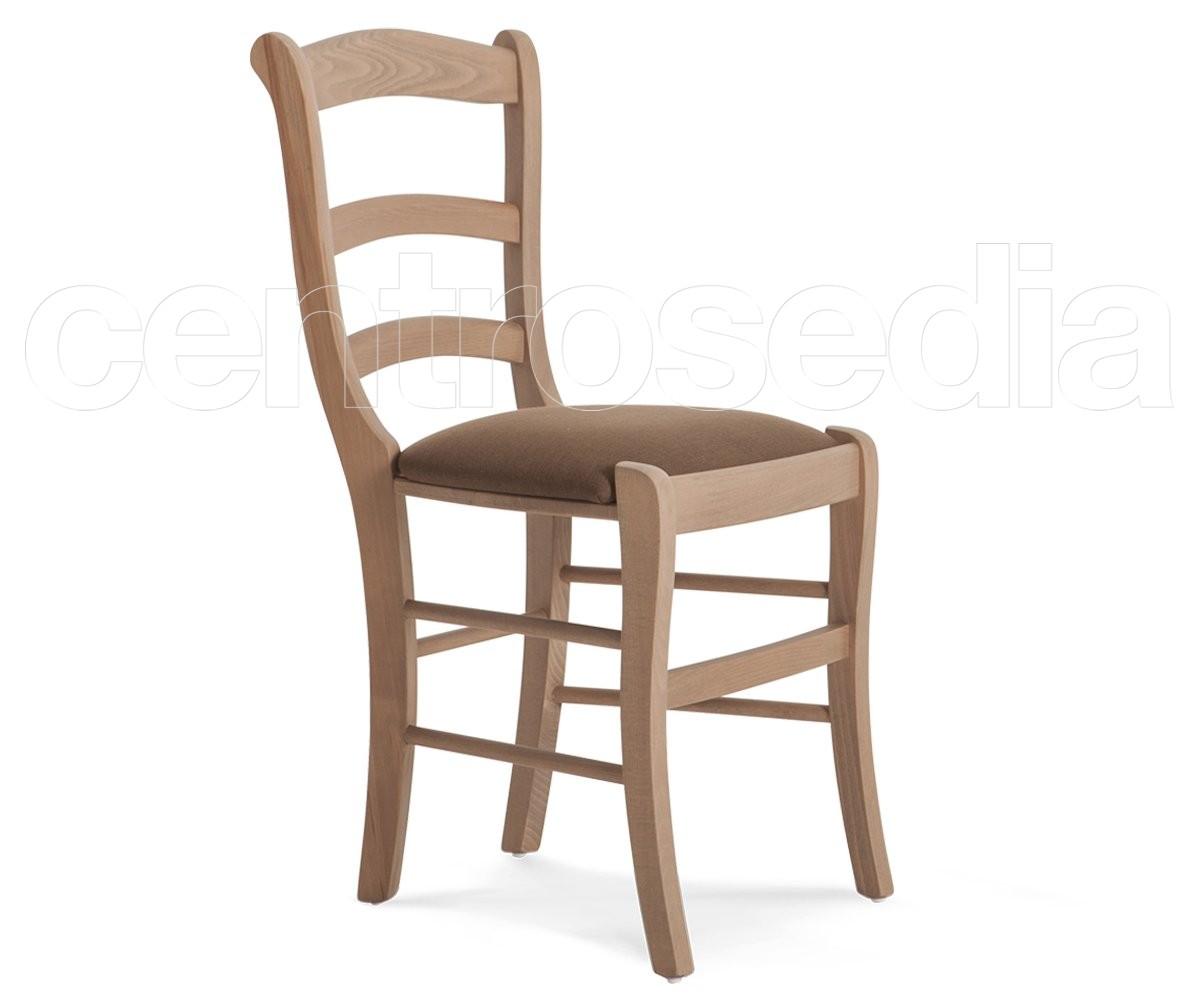 Elvira sedia legno seduta imbottita sedie legno classico for Sedia imbottita