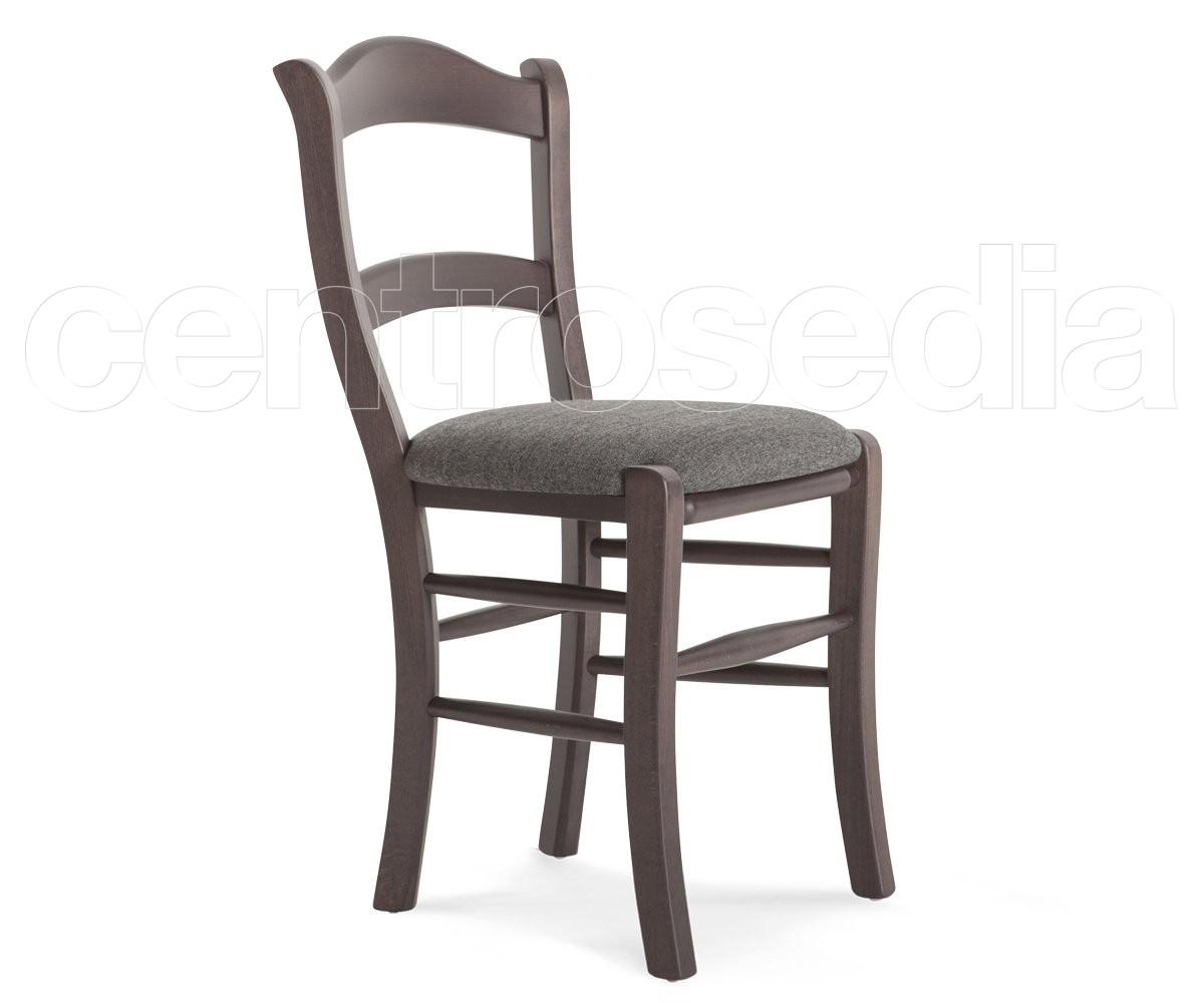 Pienza sedia legno seduta imbottita sedie legno classico e rustico