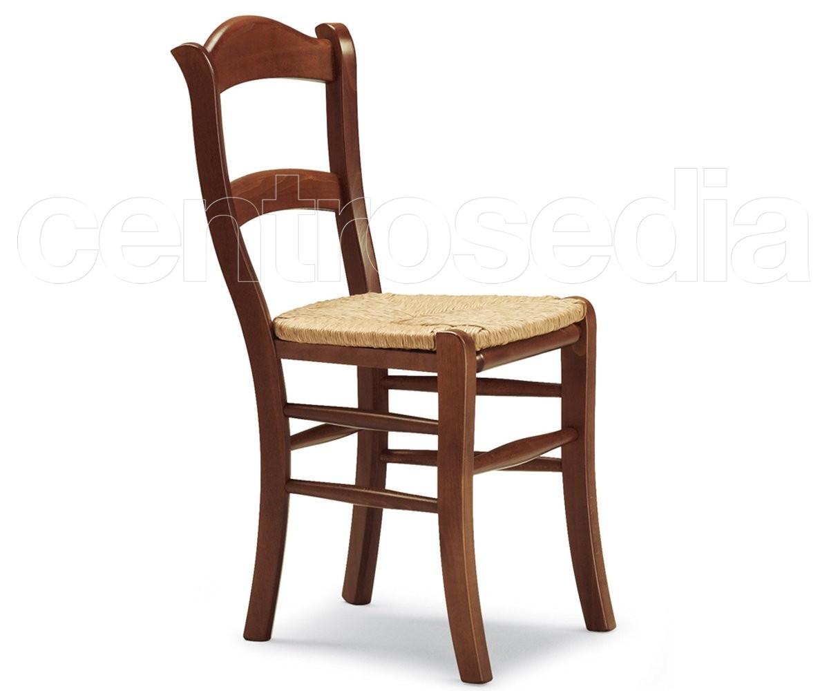 Pienza sedia legno seduta paglia sedie legno classico e rustico