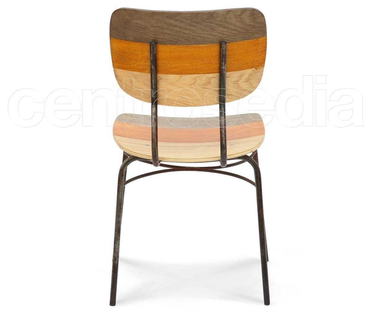 Sedie In Legno Colorate : Olivier sedia metallo legno colorata sedie vintage e
