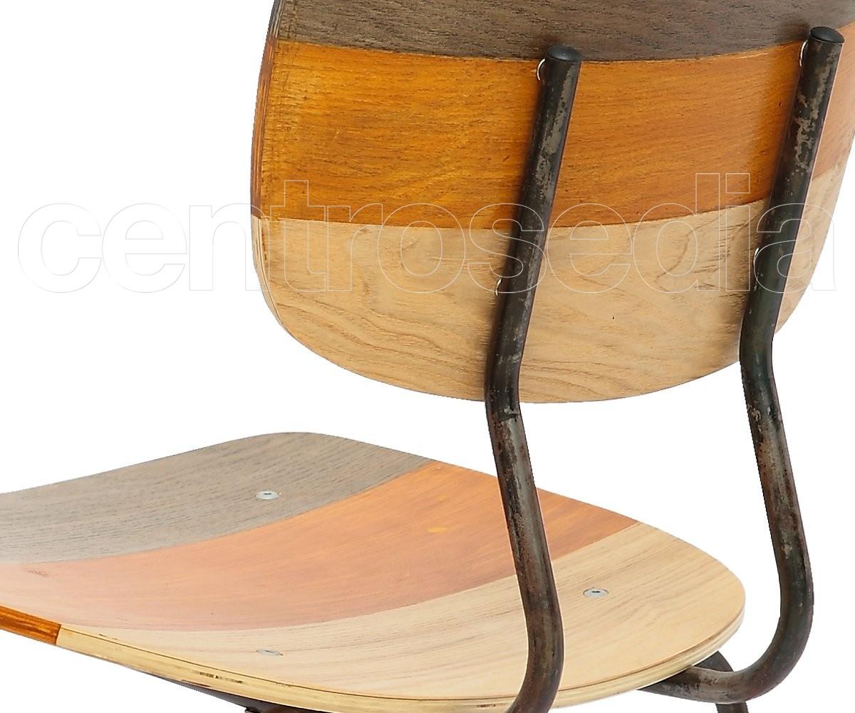 Sedie In Legno Colorate : Olivier sedia metallo legno colorata sedie vintage e industriali