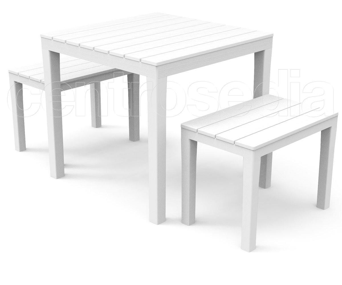 Papua set polipropilene tavoli polipropilene e plastica for Set giardino plastica