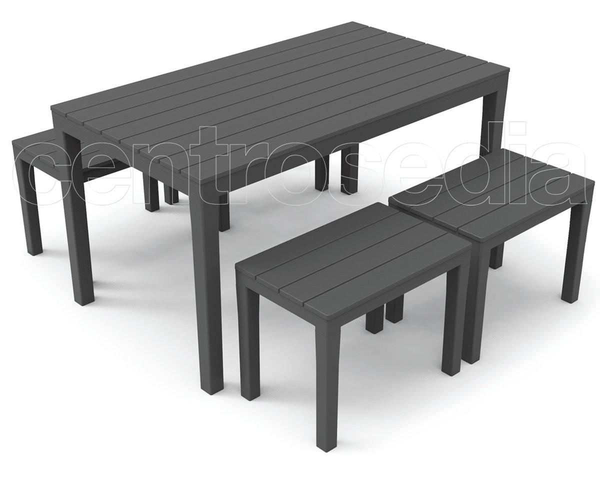 Samoa set polipropilene tavoli polipropilene e plastica - Tavoli in plastica da esterno ...