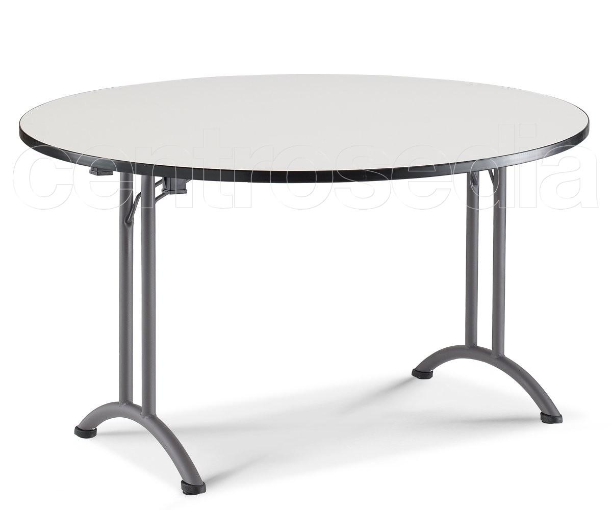 Chic tavolo pieghevole rotondo tavoli pieghevoli o for Tavolo rotondo o qui