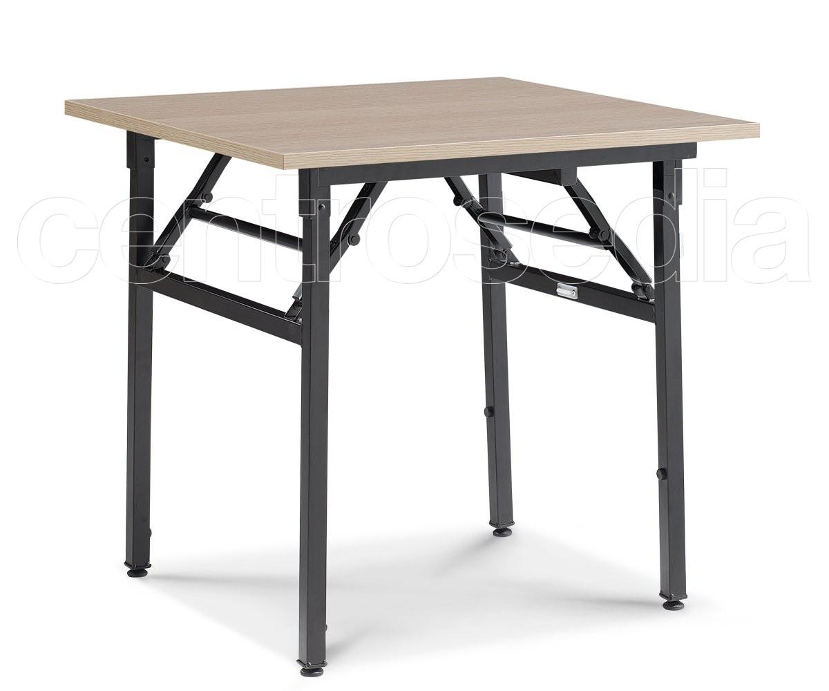 Usa tavolo pieghevole quadrato tavoli aule laboratori for Tavolo legno quadrato