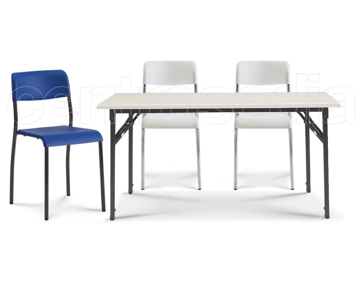 Usa tavolo pieghevole rettangolare tavoli aule laboratori for Tavolo plastica pieghevole