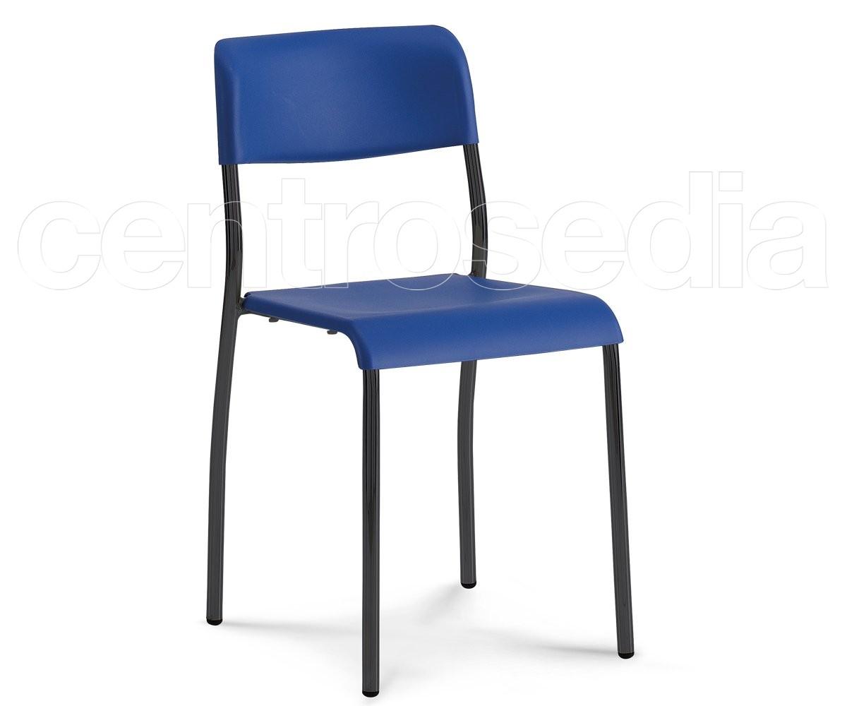 Kompat sedia plastica sedie metallo plastica