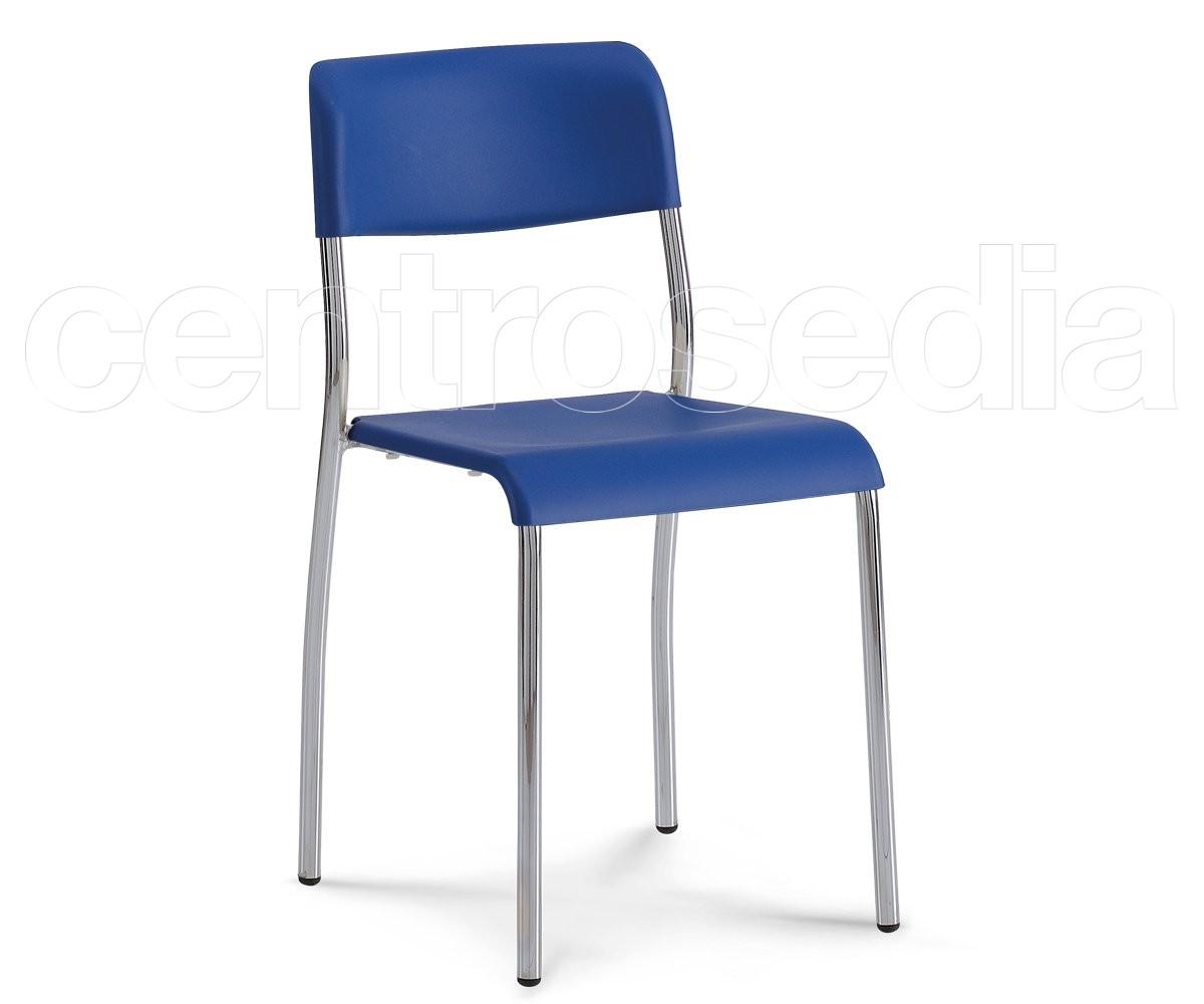 Sedie In Metallo E Plastica : Kompat sedia plastica sedie aule laboratori mense