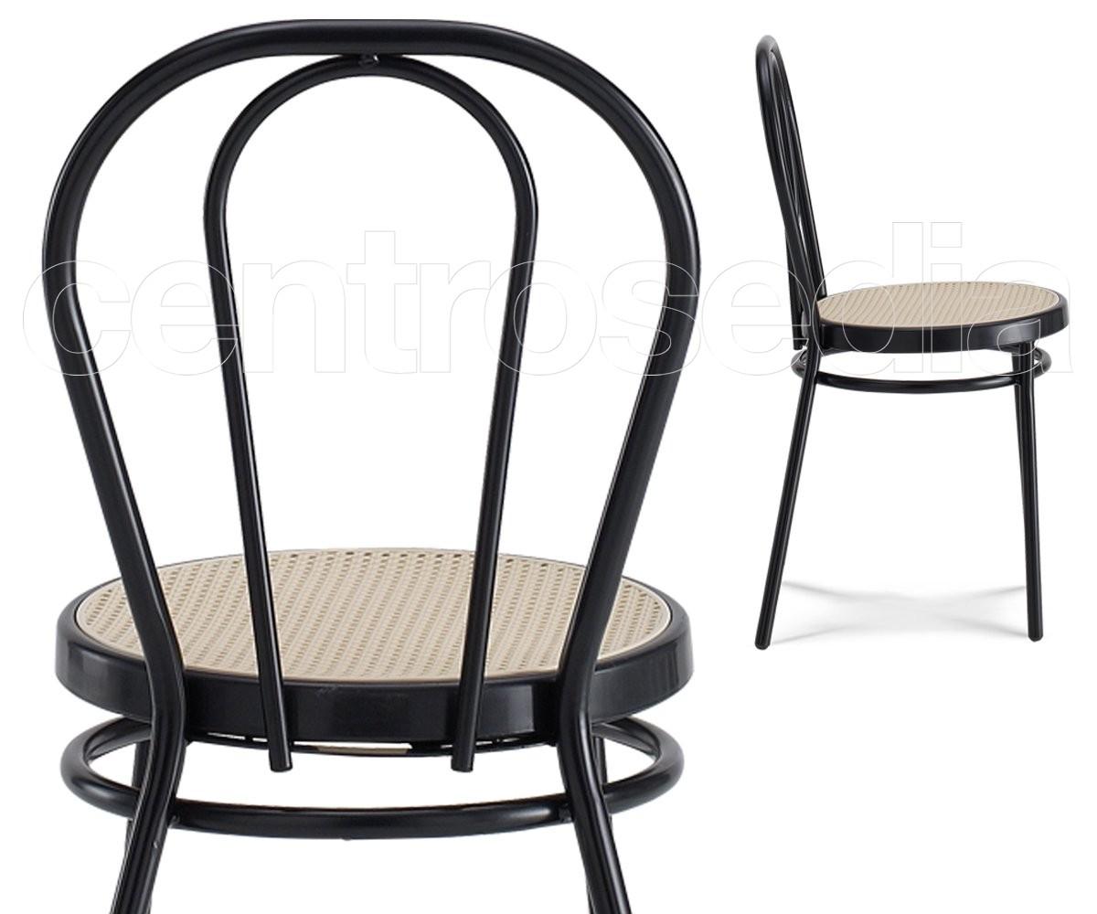 Thonet sedia impilabile sedie alluminio metallo