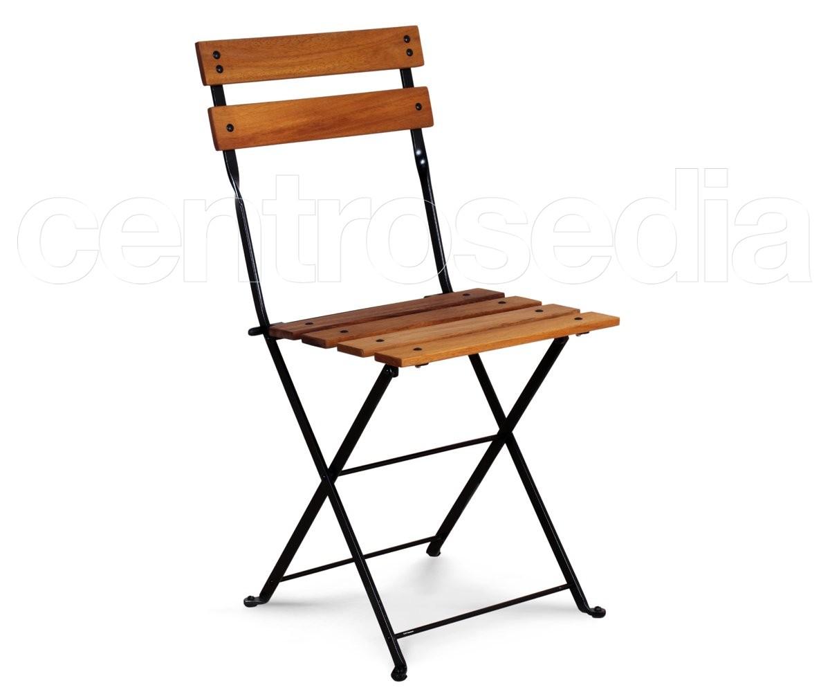 Sedie In Legno Richiudibili.Country Sedia Pieghevole Metallo Doghe Legno Sedie Pieghevoli