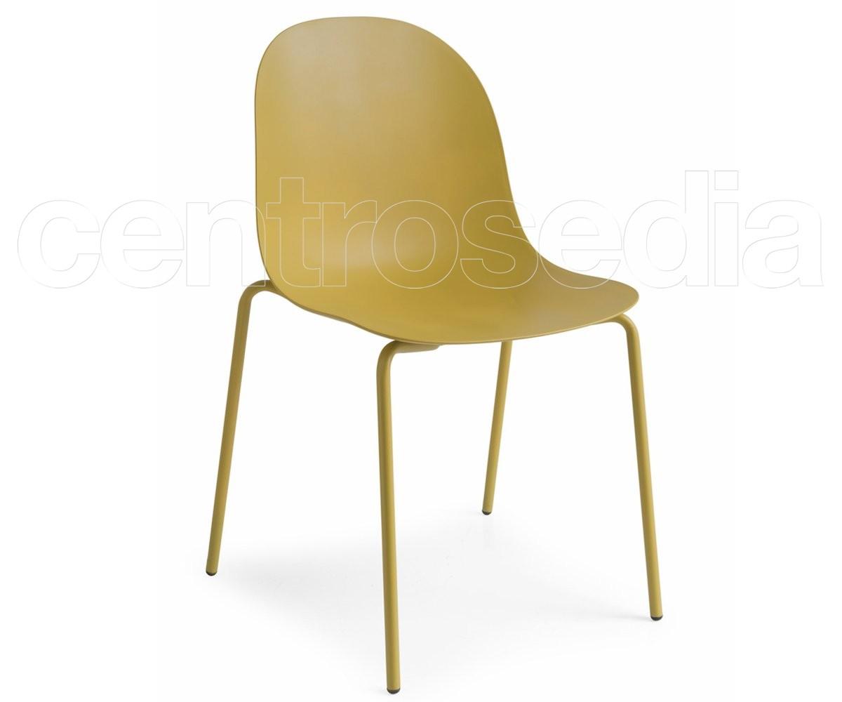 Academy sedia metallo polipropilene sedie design for Sedie design metallo